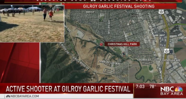 Christmas Hill Park Map.Observateur On Twitter Update Shooting At Gilroy Garlic