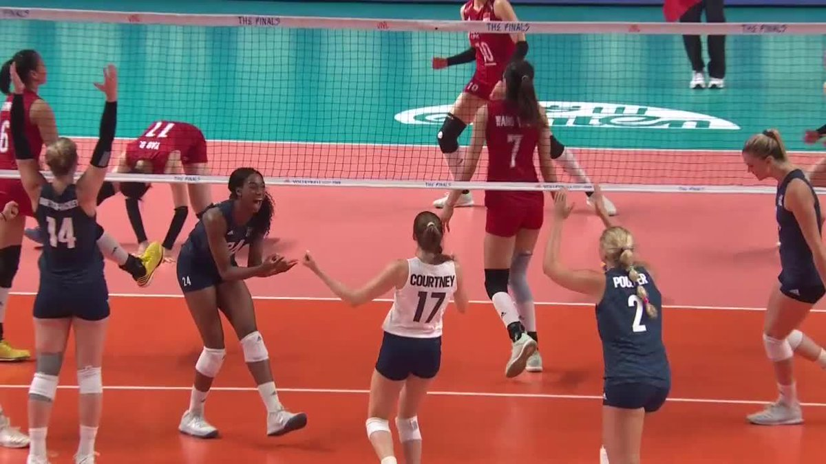 Ogbogu made her 🇺🇸 debut in the 2019 #VNLWomen & was one of the #VNL rookies who caught the spotlight with her performance as a middle blocker. Now she is on the roster for next week's Olympic Qualification Tourney. Read more about the #FIVBOQT on http://FIVB.COM .
