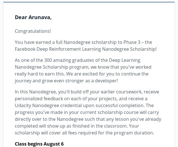 Remember the Deep Learning Scholarship from @facebookai and