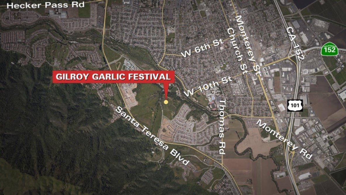 Christmas Hill Park Map.Ktvu On Twitter Gilroygarlicfestival Shooting Scene Still