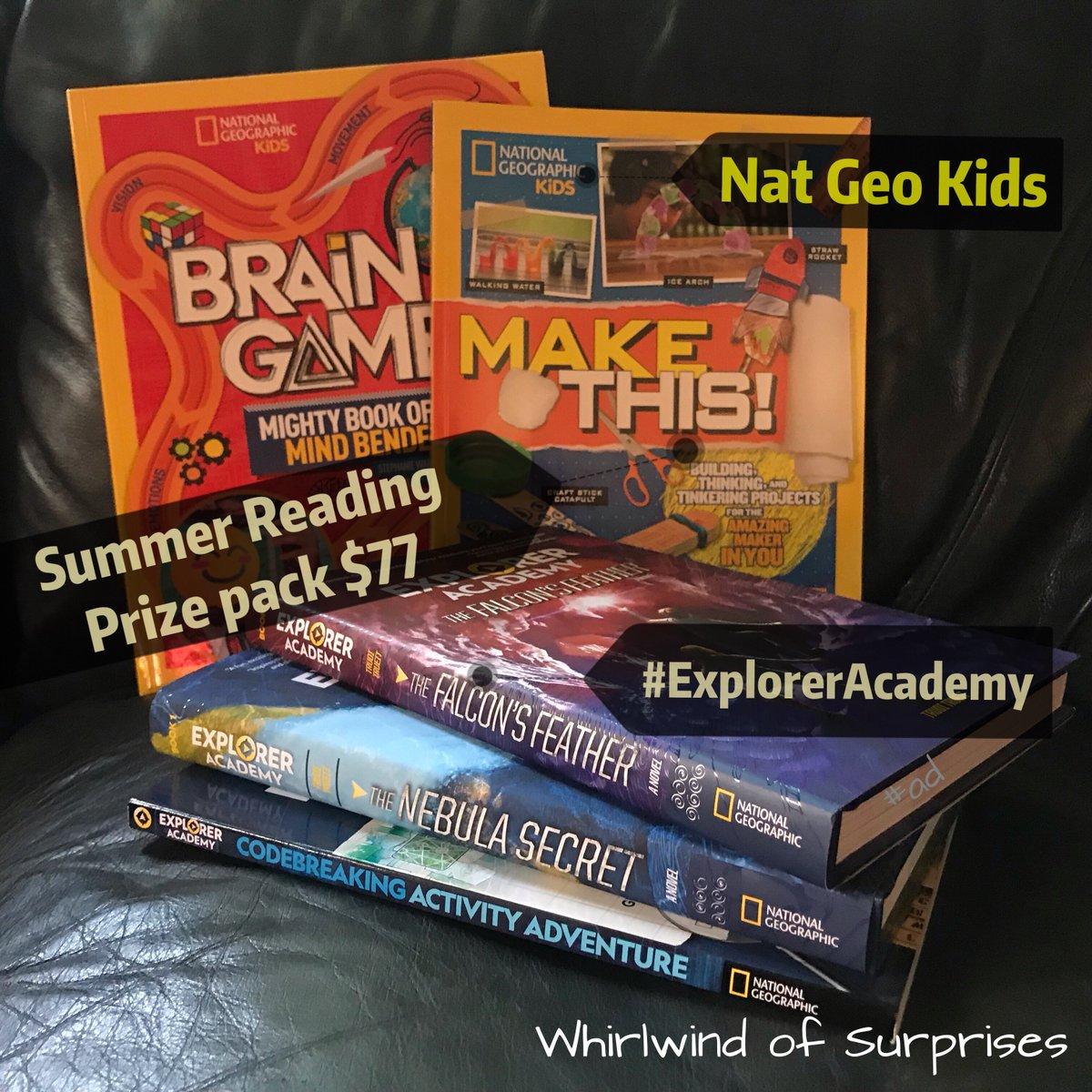 Great summer Nat Geo Explorer Academy kids book giveaway