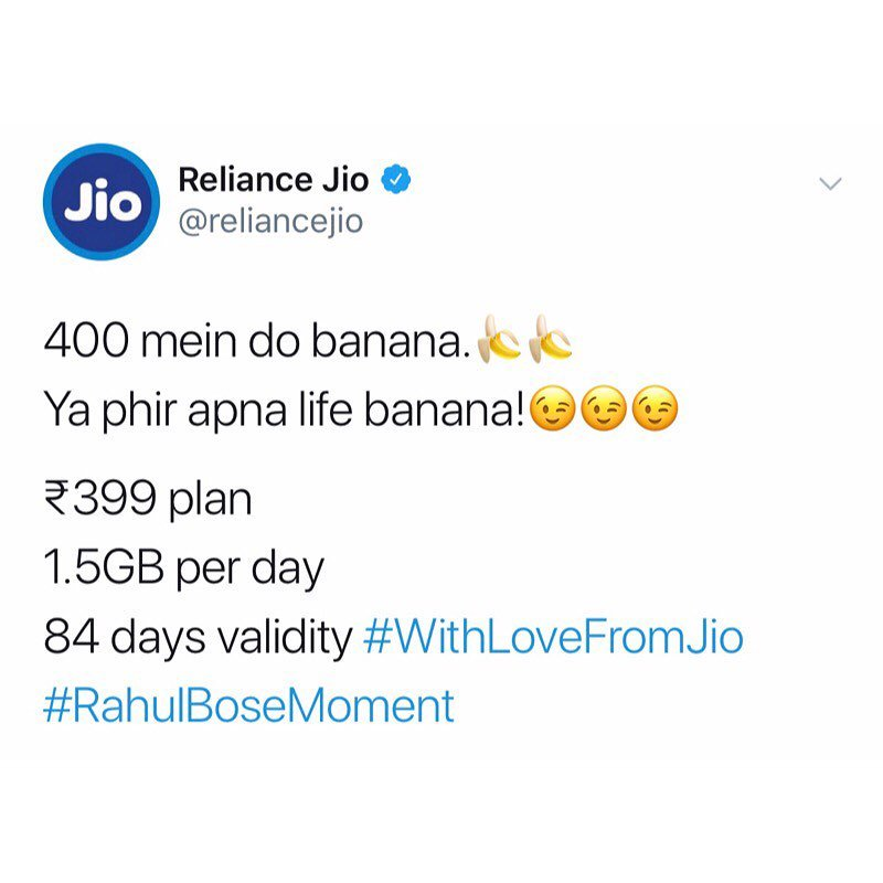 The #RahulBoseMoment !!  How 2 bananas can destroy reputation of a premium brand in this competition driven market!!  This ##JWMoment should have taught a lesson to all business entities charging exorbitant prices.. else, your turn will come next!!