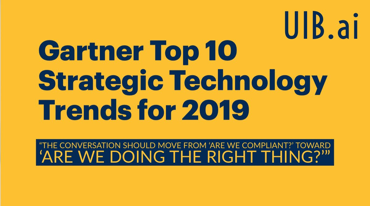WHAT are 2019's #top10 strategic #technology #trends