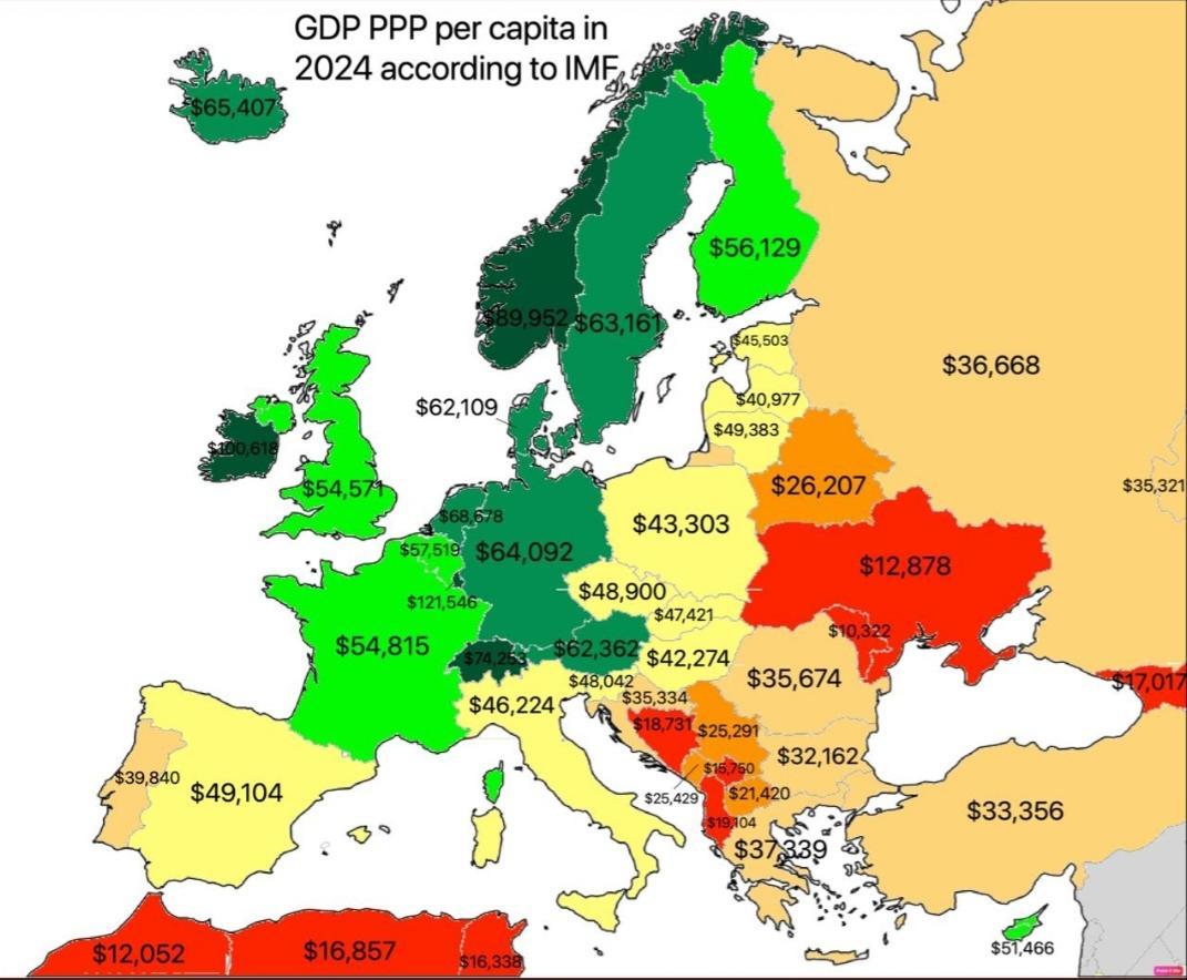 первое место в зарубежной европе занимают