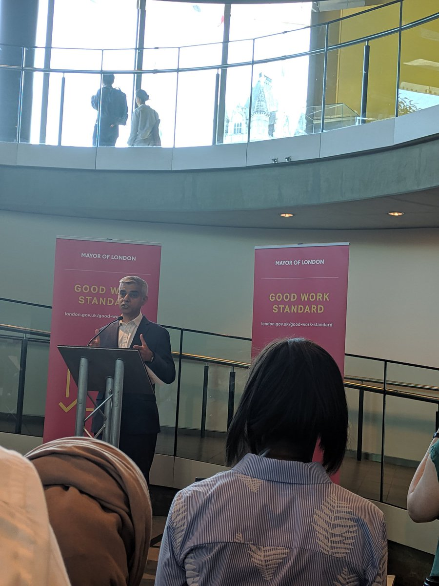 To small businesses, my message is we will support you every step of the way, with our partners @CIPD we will provide advice, encourage businesses to learn from each other and provide support @MayorofLondon on @CIPD #MayorsGoodWorkStandard Sign up: london.gov.uk/good-work-stan…