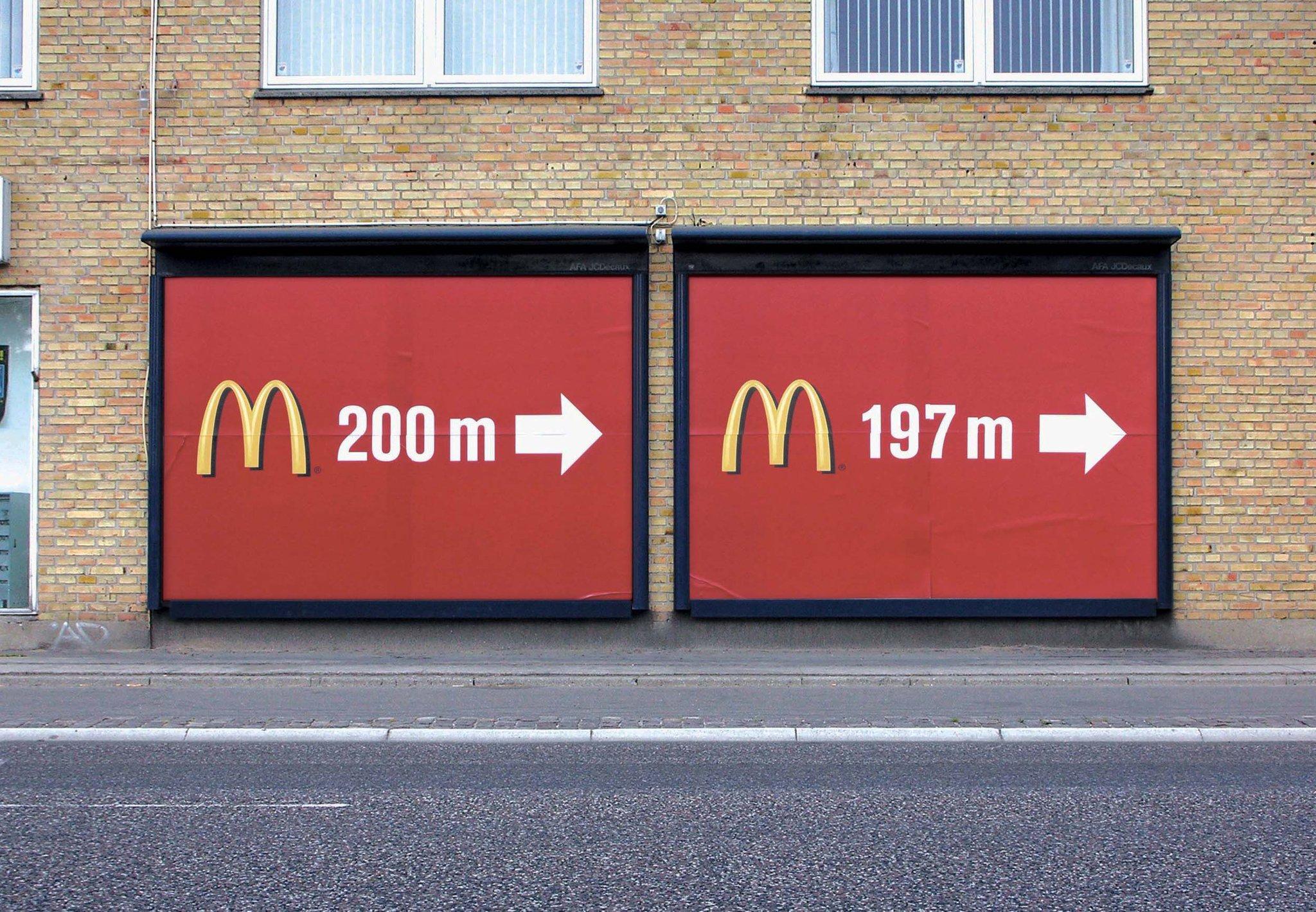 マックの広告がシンプルなのに目を引く!?発想の勝利!