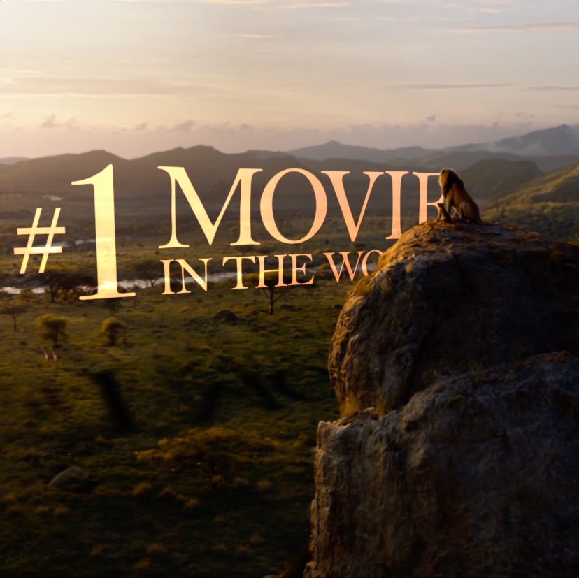 Thank you for making #TheLionKing the #1 movie in the world 2 weeks in a row! See it in theatres now!