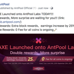 Image for the Tweet beginning: $AXE AMA with @antpool happening