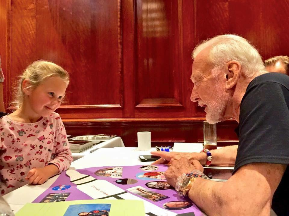She read my #WelcometoMars book and is giving me a few pointers. #Apollo11 roadtoapollo50th.com