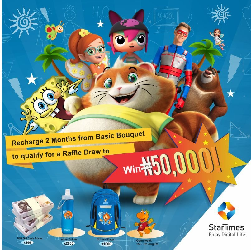 Wow! StarTimes Kiddies Promo is here!! N50,000 for 100 lucky