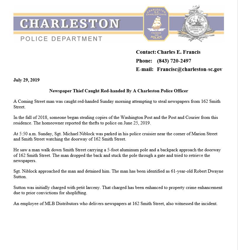 Charleston P D  on Twitter: