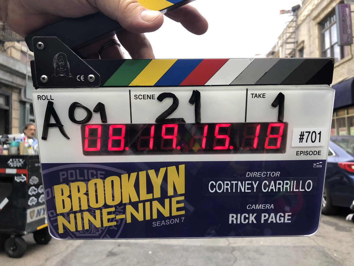 Season 7, here we go!! #Brooklyn99 @nbc #Cinematography #BehindTheScenes 🎥🚨9️⃣9️⃣