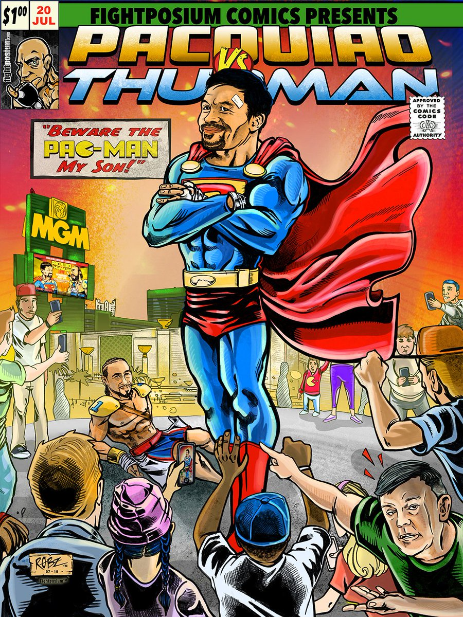 So, has anyone found the hidden easter egg in the Fightposium #pacThurman cover (Hint: Not Teddy)? Tomorrow, I will reveal the location in a new #boxing comic book cover! Stay Tuned!