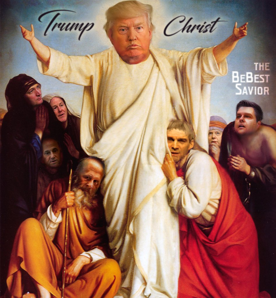 #losttrumphistory  many moons ago, he tweeted some racist shit at Jesus who got all sad and resigned as savior and then trump won the savior electoral college #bebest