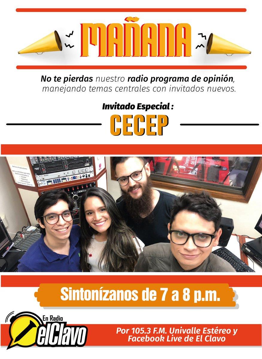 Mañana en el Clavo en Radio tendremos a un invitado muy especial: @FCECEP, sintoniza nos por Univalle Estéreo 105.3 FM a las 7:00 PM.  ¡No te lo pierdas! https://t.co/HJ4VZXyenm