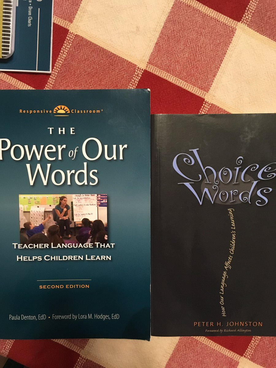 @1SusanLovato @NJAMLE The Power of Our Words and Choice Words. Enjoy!!!