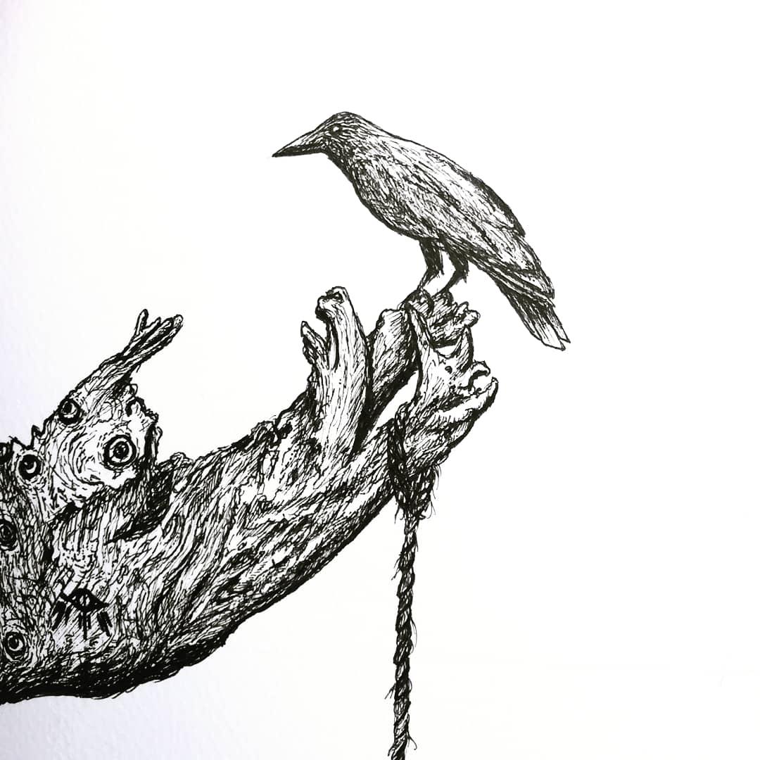 I fear death, but I long to disappear  073019 #arningechano #PortfolioDay #ink #illustrations #artph #melancholia #linework #blackwork #thanatophobia #inkdrawing #artfeauture #minimalworkspace #penandink #hatching #inkonpaper #darkart #illustrator #deathanxietypic.twitter.com/uD3xTsu3lJ