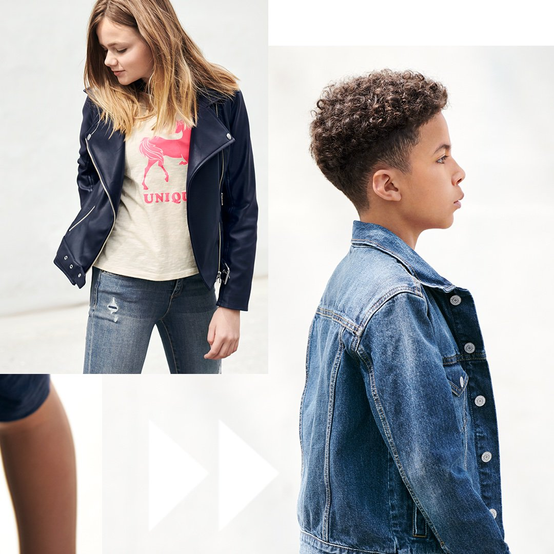 First-day confidence comes from within (but comfy-all-day Superdenim and a great faux leather jacket help). likeshop.me/gapkids #GapToSchool