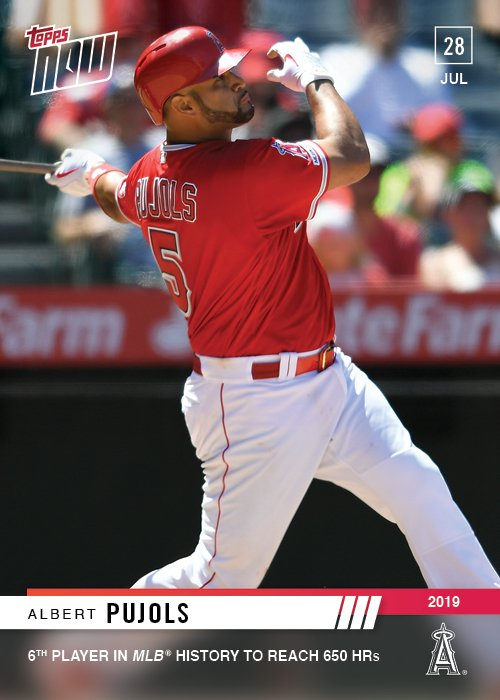 Topps On Twitter Albert Pujols Belts Career Home Run No