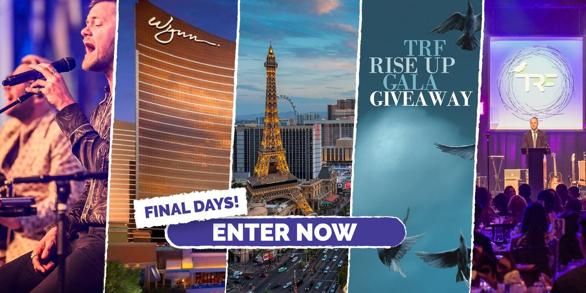 last couple days to enter for a chance at a flyaway trip to join us at the sold out 2019 @TRFdotORG Rise Up Gala in Vegas in September... bit.ly/GalaFlyaway