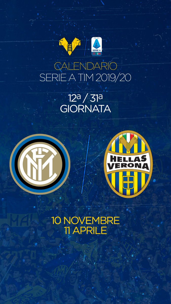 Interit Calendario.Hellas Verona Fc On Twitter 1 2 Contro I Nerazzurri