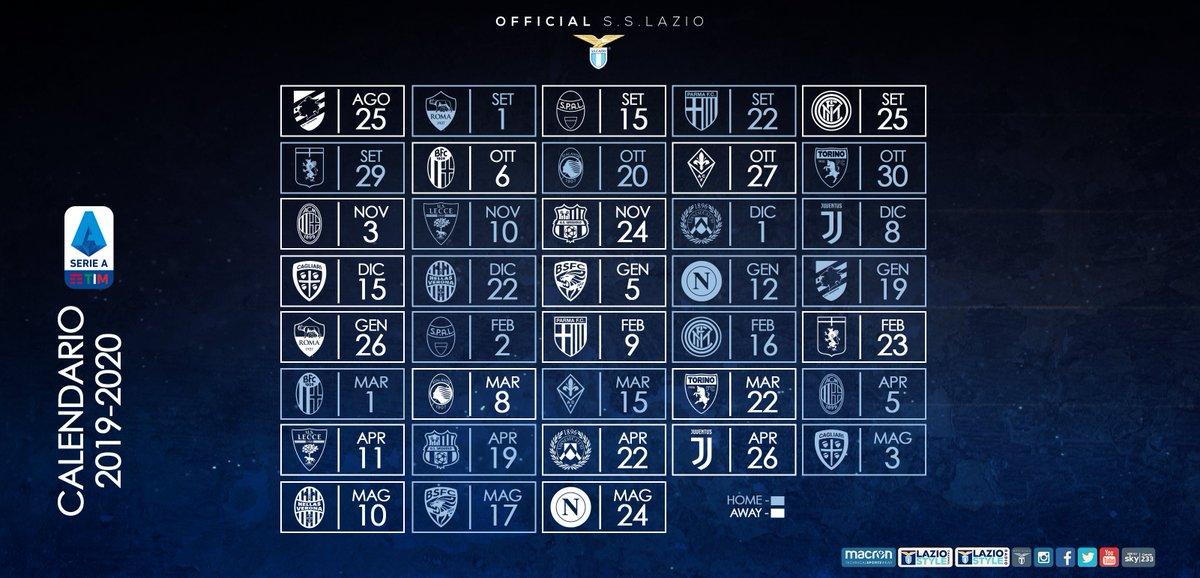 Calendario Lazio.S S Lazio On Twitter Ecco Il Nostro Calendario Nella