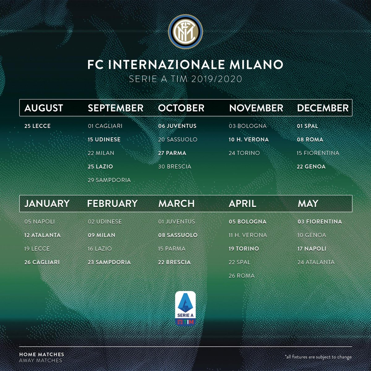 Spal Calendario.Inter On Twitter Serieatim 2019 20 The Full Inter