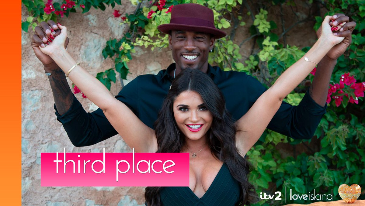 Ovie scored a slam dunk when India arrived and now this beaut couple have come in third place! 💕 #LoveIsland
