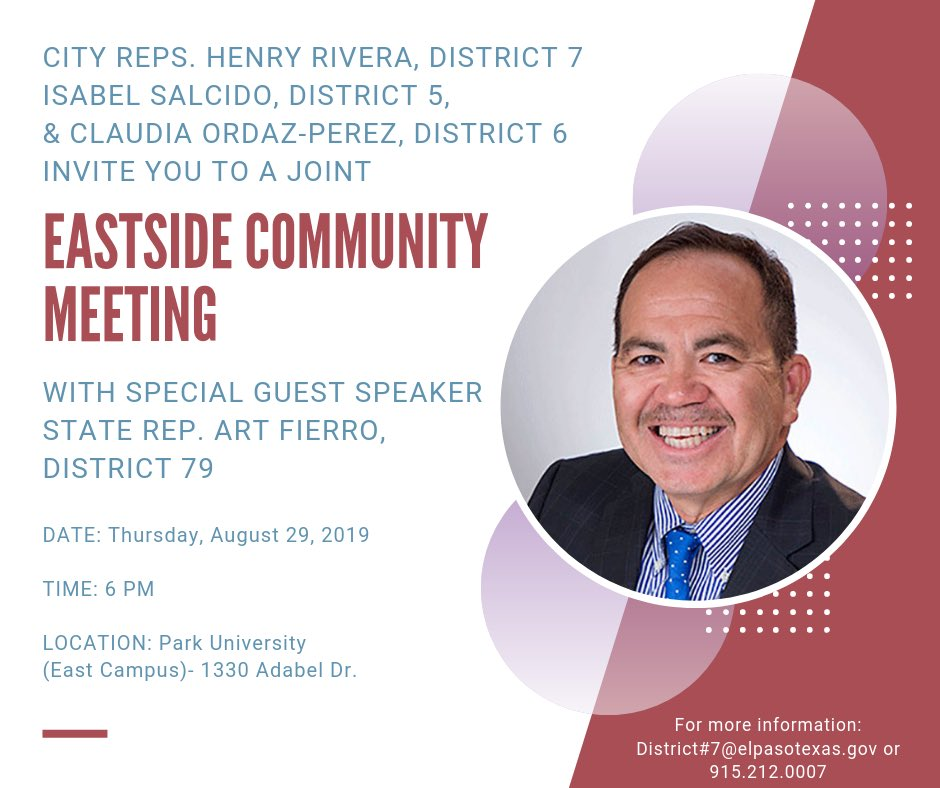 EPDistrict7 - City Rep  Henry Rivera, District 7 Twitter