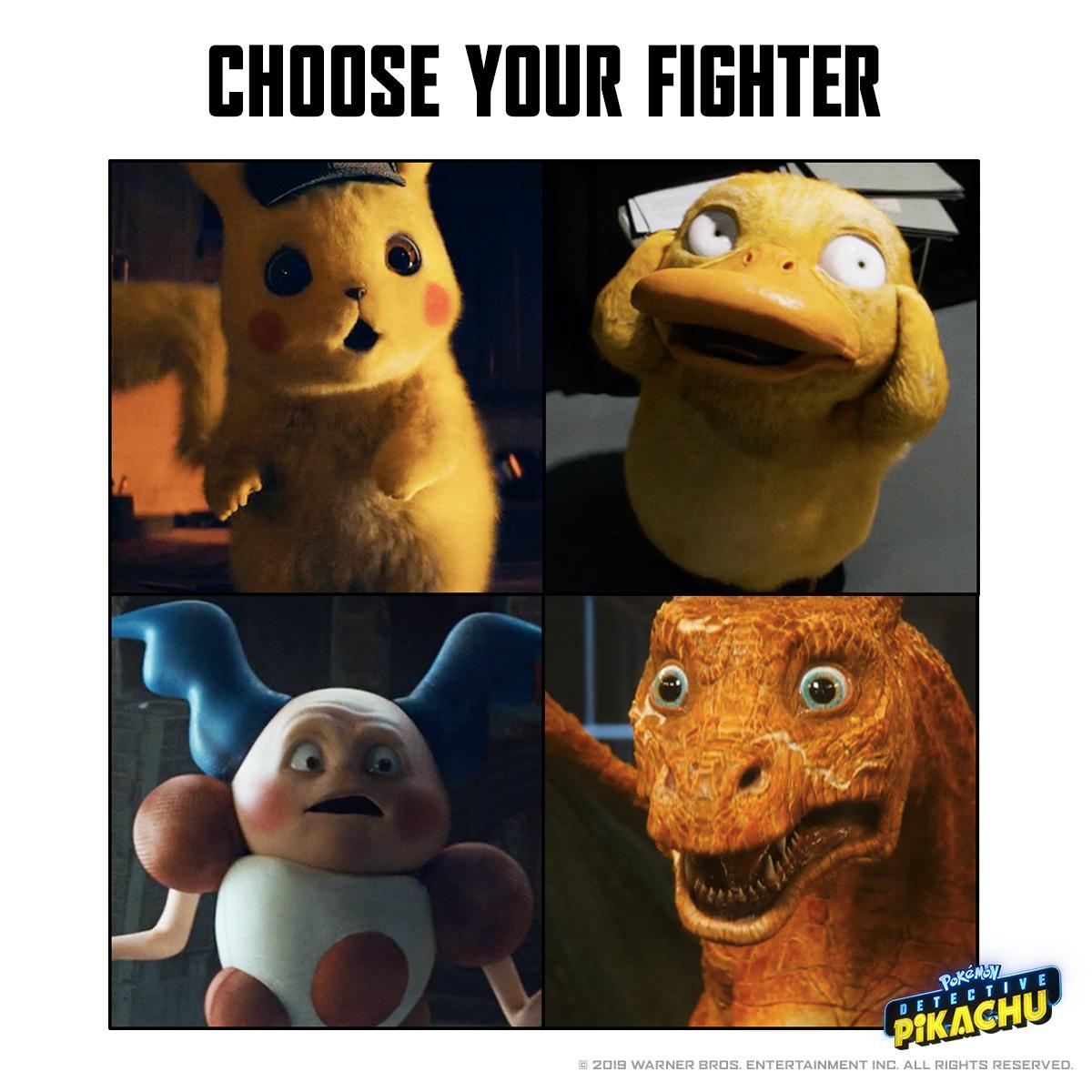 Choose carefully. #DetectivePikachu