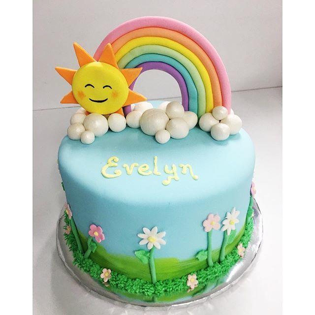 Fantastic Ligers Bakery On Twitter Blue Sky Rainbows Rainbow Birthday Cards Printable Inklcafe Filternl