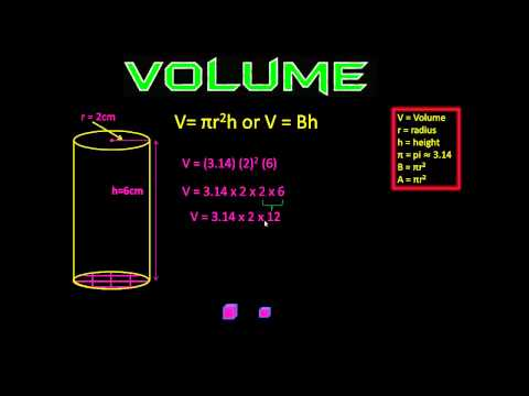 how to find volume of a cylinder