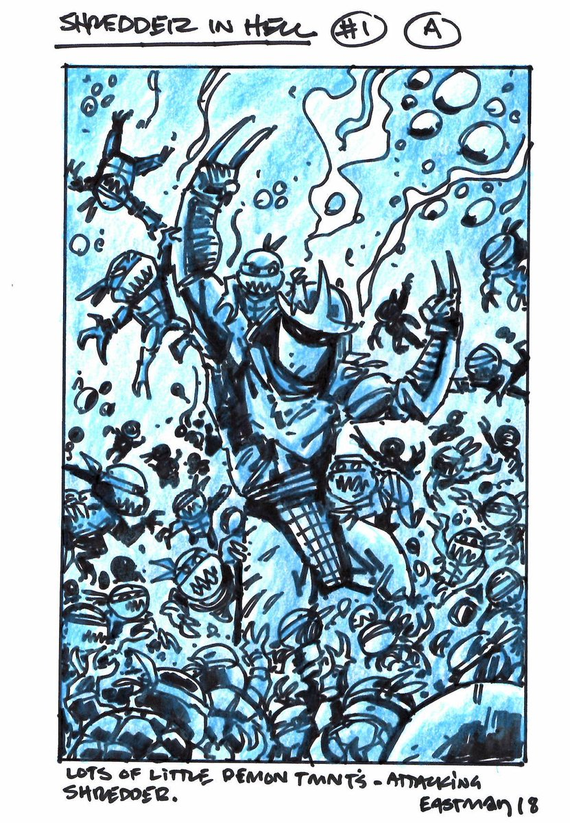 Kevin Eastman On Twitter Two Original Works Of Tmnt Art Are Selling As One Package On Ebay Now Item Id 183903313128 Shredder In Hell Issue 2 Tmnt35 Kevineastman Teameastman Https T Co Xw0tui2gfo Https T Co Qnbbxmxesf