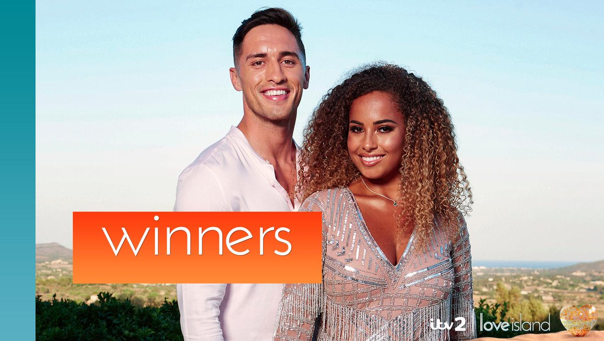 They've not stopped smiling since they first set eyes on each other... Amber and Greg are your #LoveIsland 2019 winners! ❤️🎉