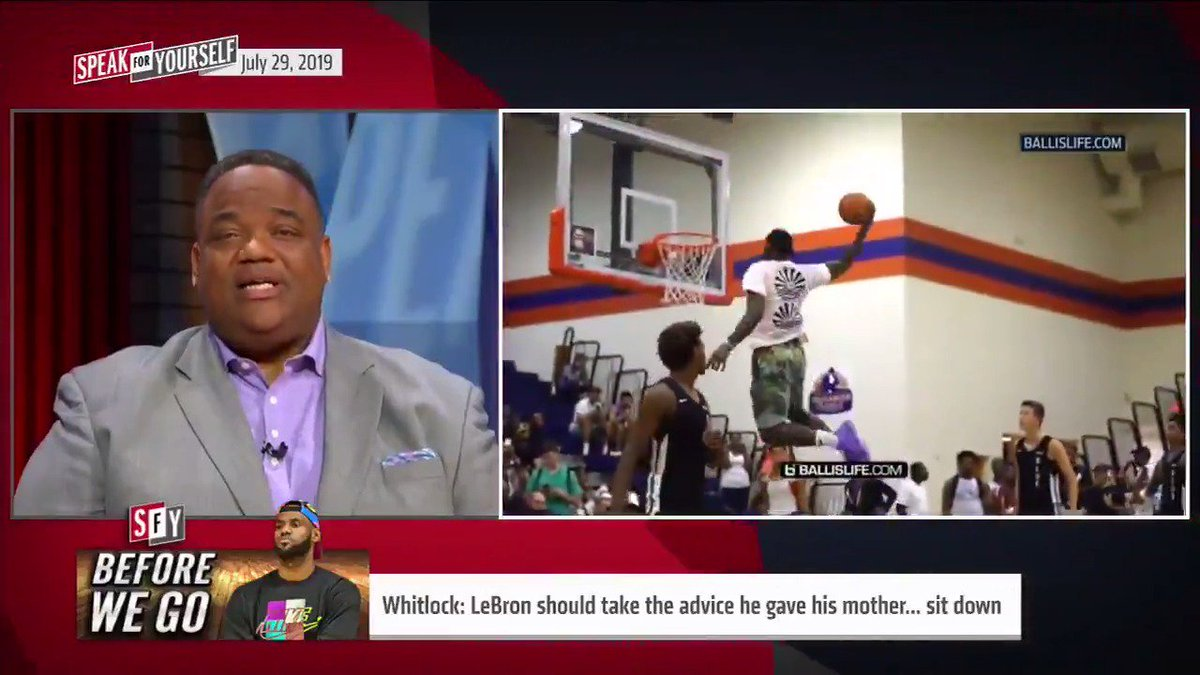Today's Before We Go: LeBron should take the advice he gave his mother… sit yo ass down. @WhitlockJason