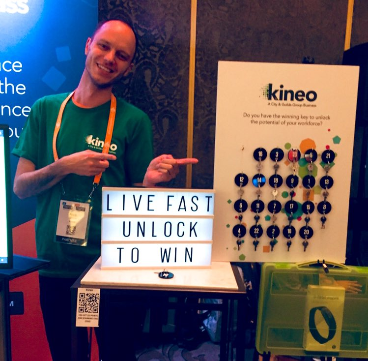 This is Nick, he makes the magic happen with our off the shelf course library! ✨🦄 If you're at #ldtechfest in #Auckland pop by Kineo stand for a chat and try your luck to win a Fitbit!