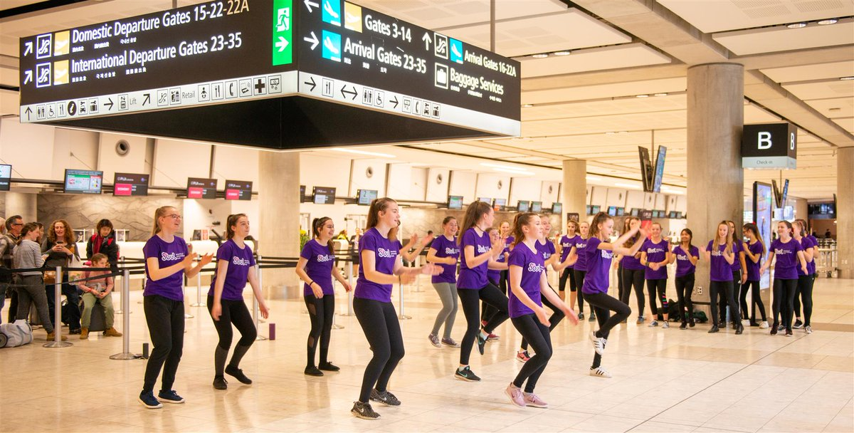 What better way to celebrate World Friendship Day than with a #friendmob at the airport! The @SOUL4girls national dance event look took place simultaneously today at @WLGAirport and @AKL_Airport with the aim of replacing discrimination with love. #worldfriendshipday #ArohaNui