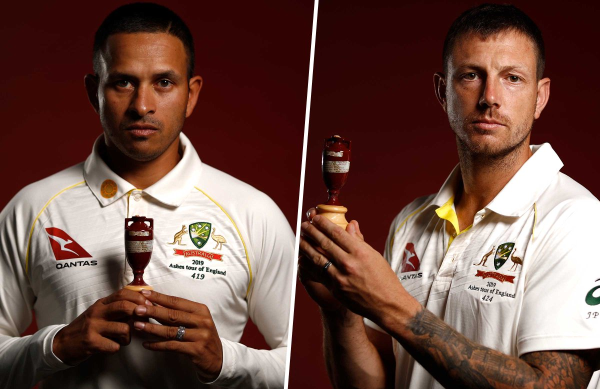 Usman Khawaja and James Pattinson