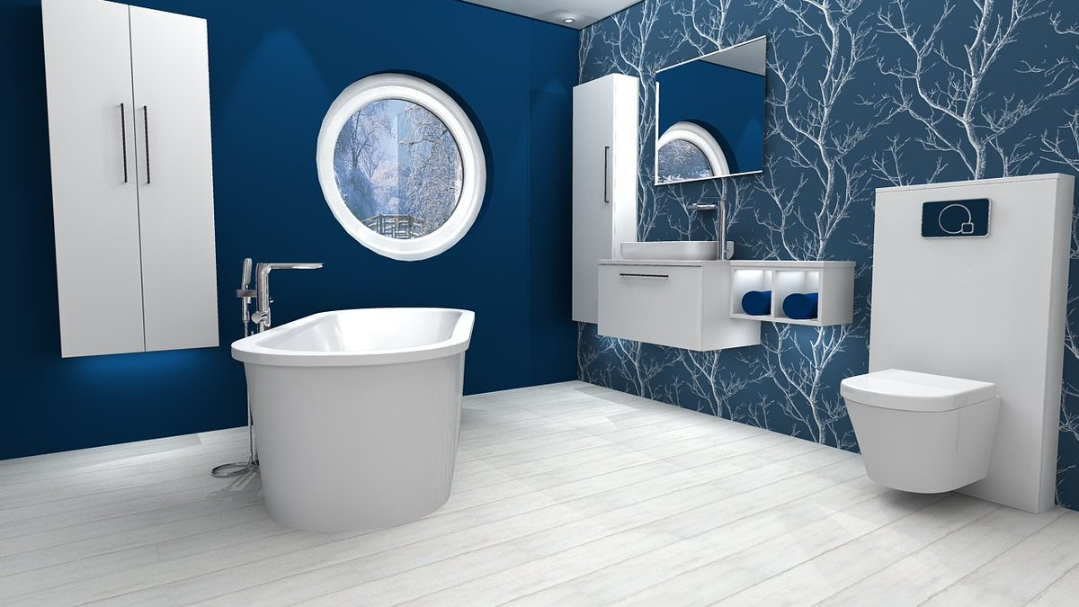 💙Take a look at this great design, featuring Flova Allore brassware; Deuco M Series units; Imex Arco sit-on basin & wall mounted, short projection WC; Puracast Arco free-standing bath; and Luna mirror. Visit flova.co.uk/catalog/Allore to find out more about our Allore collection!