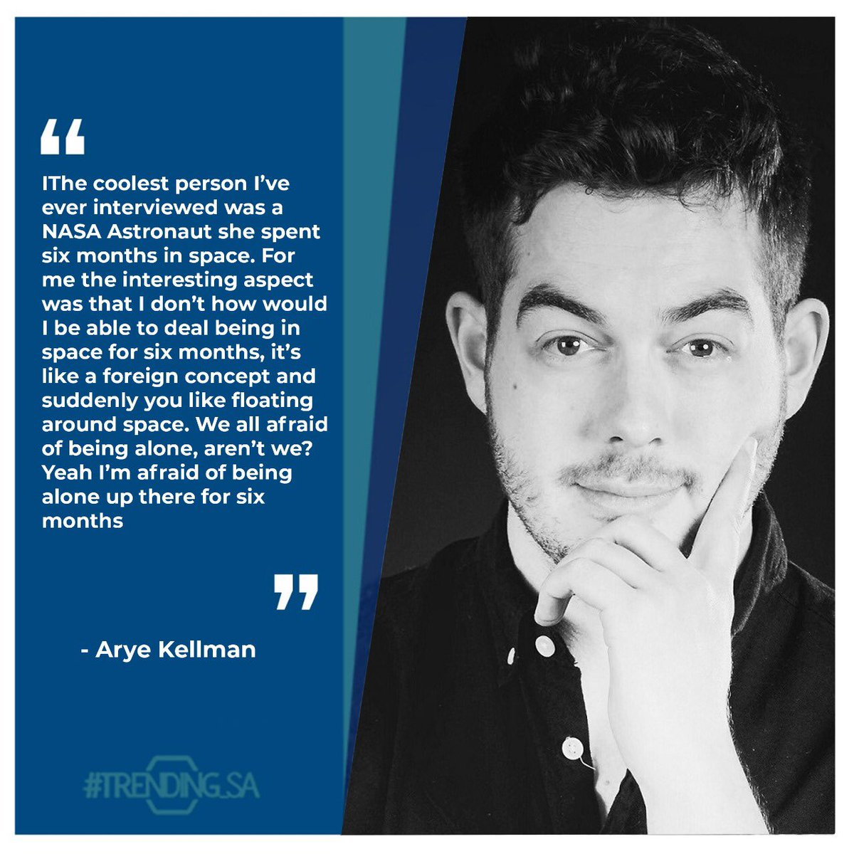 Radio Presenter Arye Kellman on being scared to be alone. #tsaonline #tsaon3