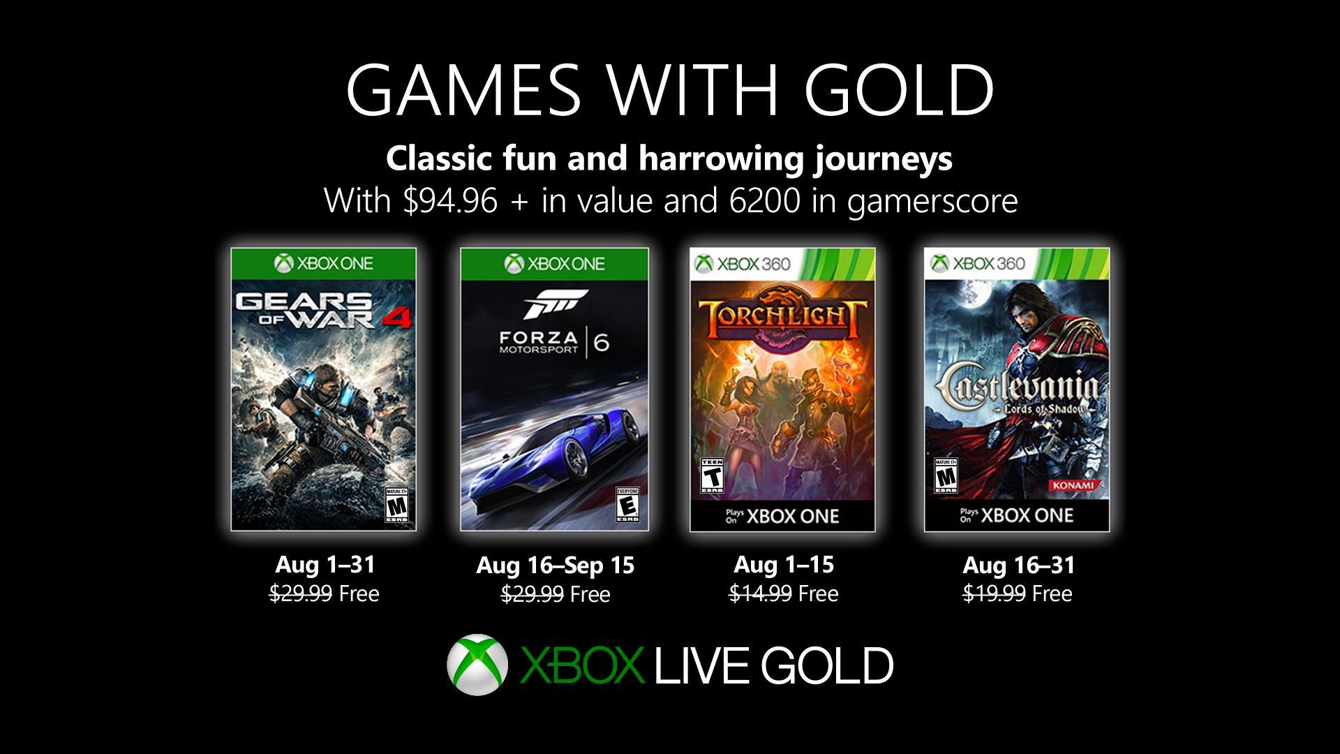 Consigue gratis Gears of War 4 y Torchlight vía Games with Gold