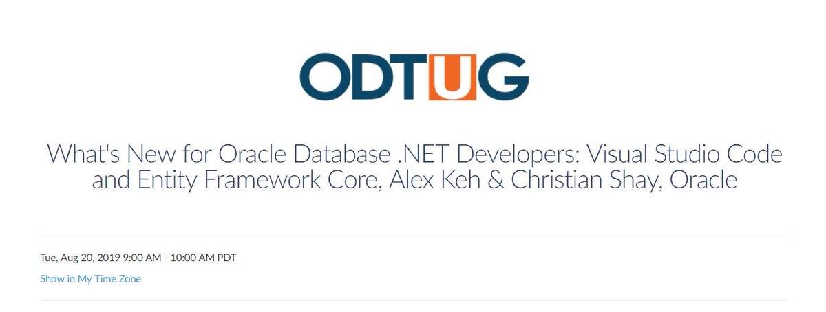 Oracle  NET Team (@OracleDOTNET) | Twitter