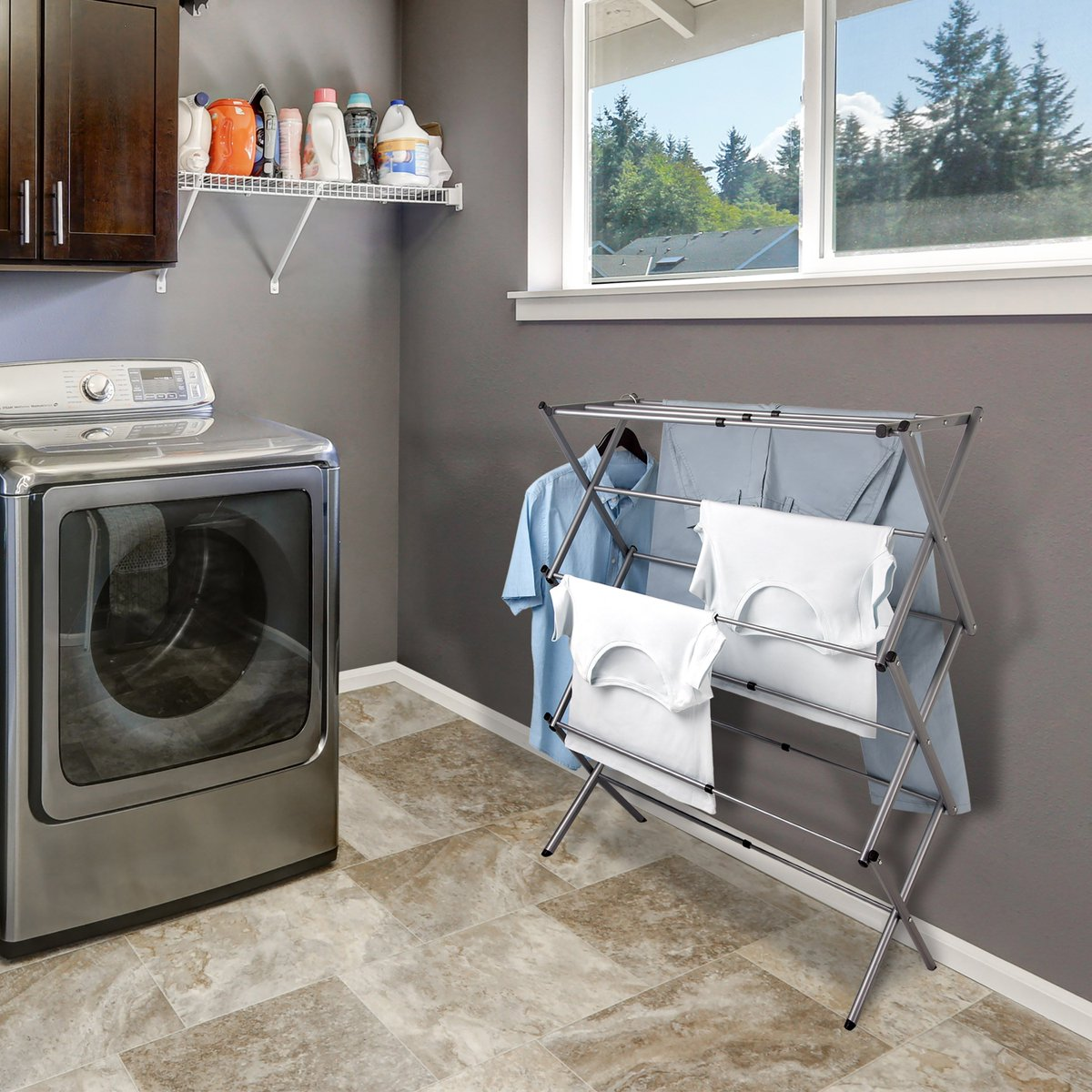 "The Greenway GFR1500CTN Expandable Accordion Drying Rack might look like a normal rack at first glance, but this rack is expandable up to 30"" wide! It is a traditional rack design that is ready to tackle your family's changing laundry needs with ease. https://t.co/aEEJzdUXnM https://t.co/BmvsQexhvh"