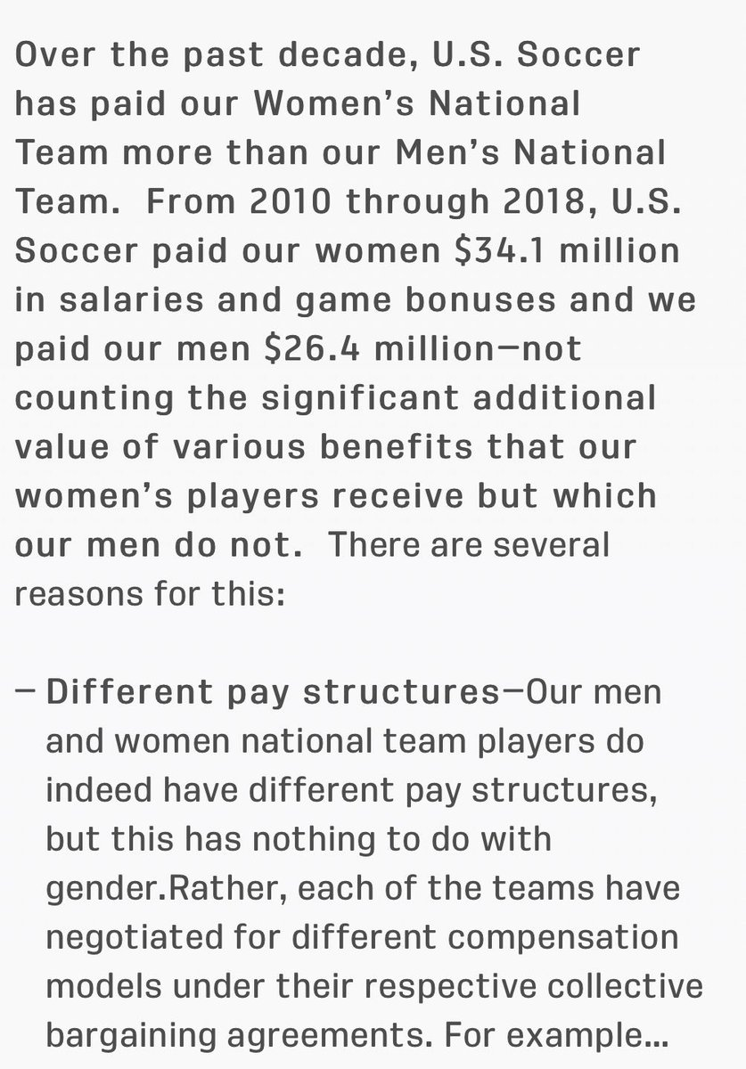US Soccer responds, for the first time, with what it says are independently audited finances that show that their women players actually do earn more than the men.