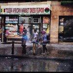 Image for the Tweet beginning: Harlem, fire hydrant, summer