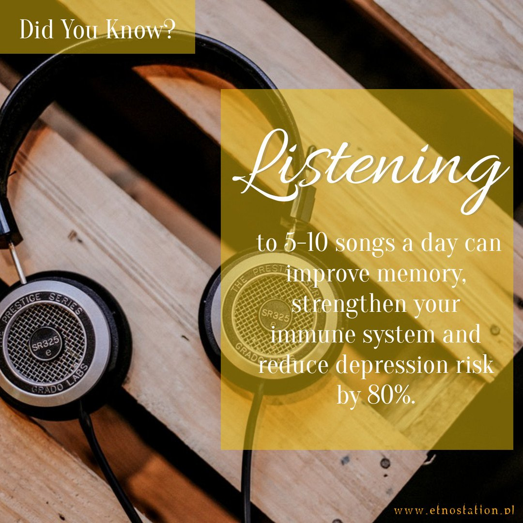Did you know… ? Why don't you start your day with music? 🎵🎧 go.etnostation.pl/listen