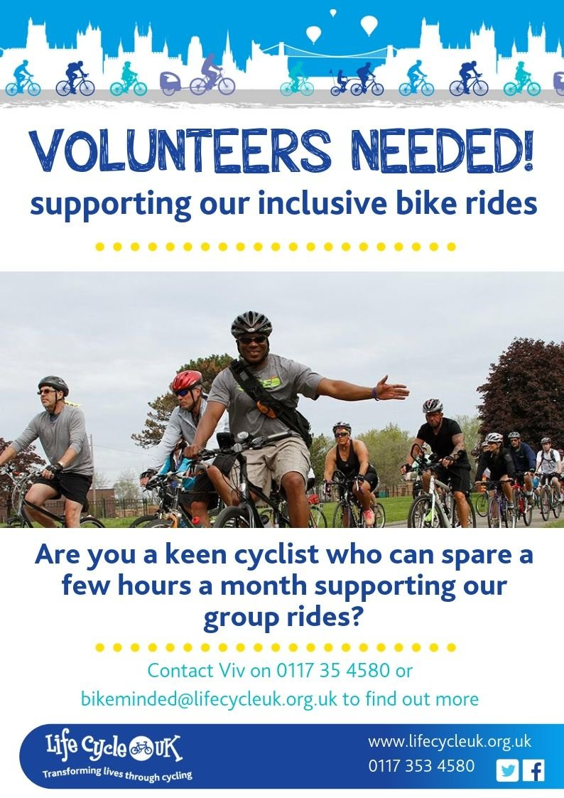 test Twitter Media - Life Cycle UK is a charity based in Bristol. They are looking for volunteers to support their Bike Minded well-being and Over 55s group bike rides. If you are enthusiastic about cycling, enjoy helping others and can spare a few hours a month, get in touch! https://t.co/yplfJjG8E2 https://t.co/onsqEeDDQC
