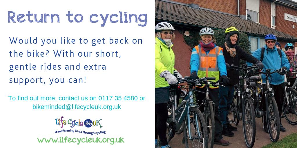 test Twitter Media - Want to get back on the bike? Life Cycle UK is running 'return to cycling' rides every 1st and 3rd Tuesday from July-October. A short, gentle ride on traffic-free cycle paths with time to stop and enjoy some refreshments. All FREE!  https://t.co/yplfJjG8E2 https://t.co/0dCZCUXPxM