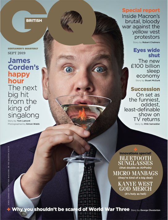 I'm honoured to be on the cover of the September issue @BritishGQ. Out on Wednesday. x
