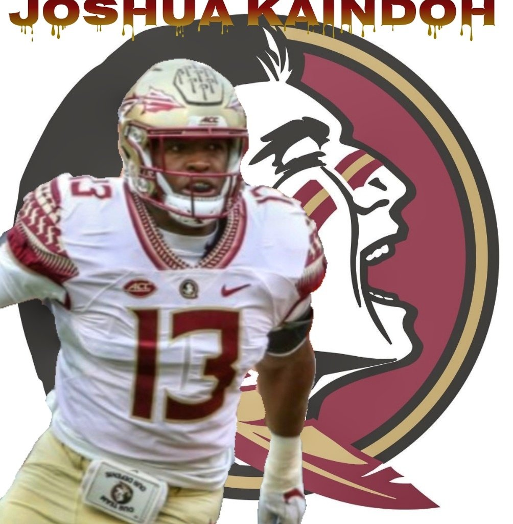 """NCAAF Nation on Twitter: """"⚪ DE Spotlight ⚪ Joshua Kaindoh - FSU - Kaindoh  has 36 Tackles, 11 Tackles for Loss and 7 sacks in 21 games for the Noles.  As a"""